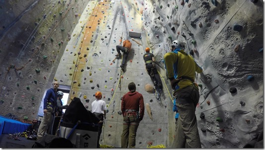 Aid Climbing using Etriers