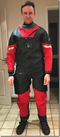 Richard Byrom in his HDS Pro Elite Dry Suit