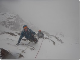 Cairngorms Climb Central Gully Seconding