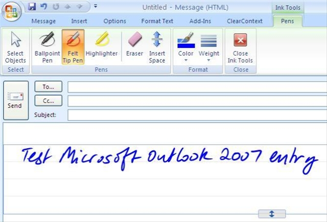 Microsoft Outlook 7