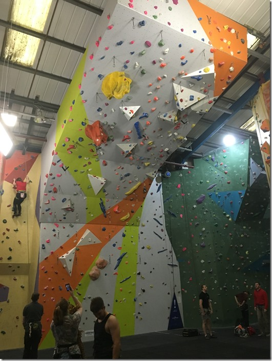New Overhanging Lead Climbing Wall