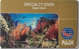 Richard Byrom's PADI Deep Diver Specialty Card