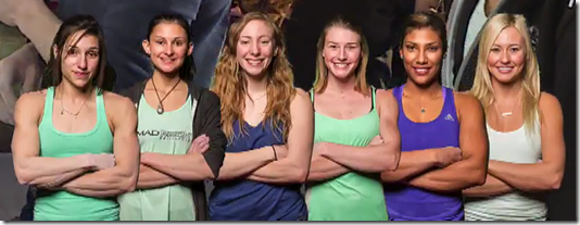 Women's Finalists for the USA Bouldering Nationals 2016