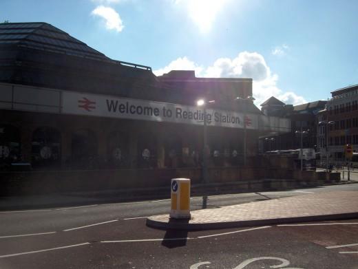 Outside Reading Train Station