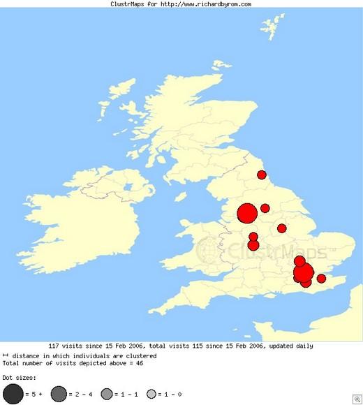 UK Traffic Clustr Map for Richard Byrom
