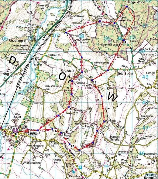 Wye Walk Waypoints Memory Map